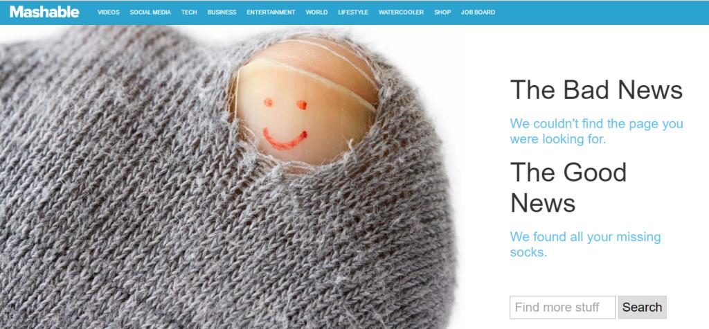 mashable 404