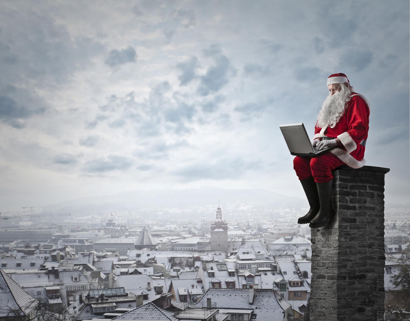 Mikołaj na kominie