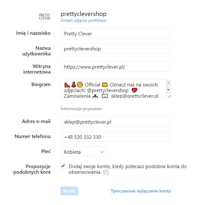 Biogram Na Instagramie Jaki Powinien Być Sas Design
